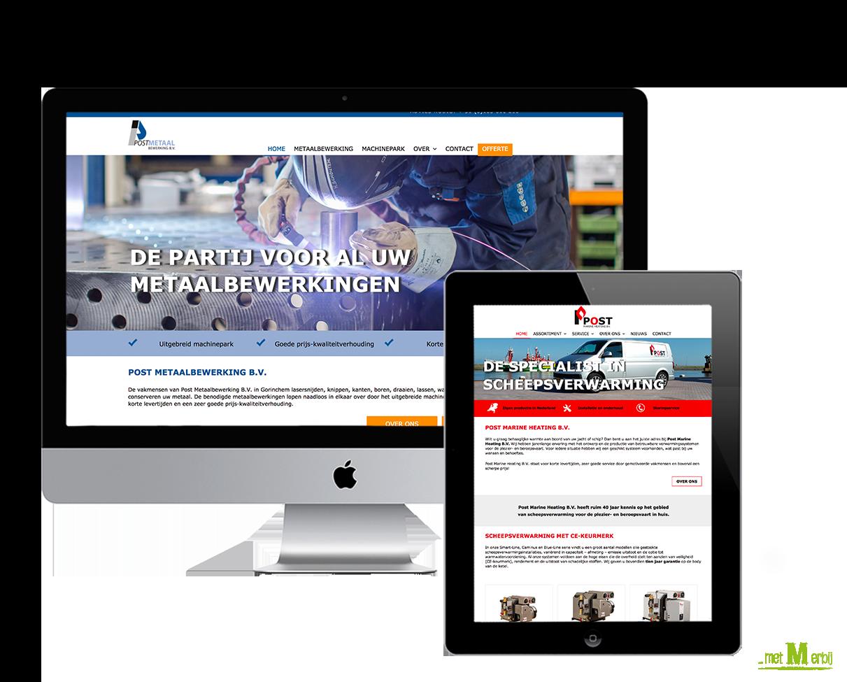 Websites PMH_PMB - met M erbij